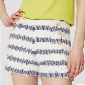 Loft Nautical Blue Striped Sailor Shorts Size 14